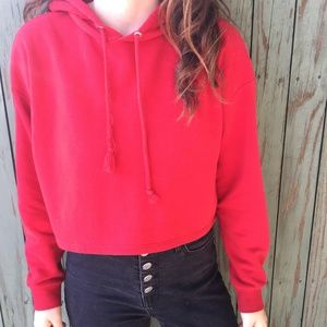 3 FOR $15 Bright Red H&M Cropped Hoodie